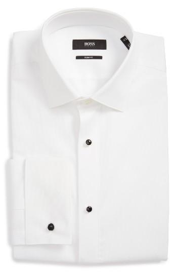 Wedding - BOSS Jant Slim Fit Tuxedo Shirt
