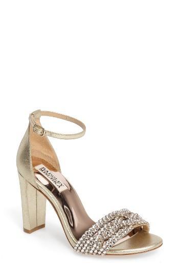 Hochzeit - Badgley Mischka Tessa Crystal Embellished Sandal