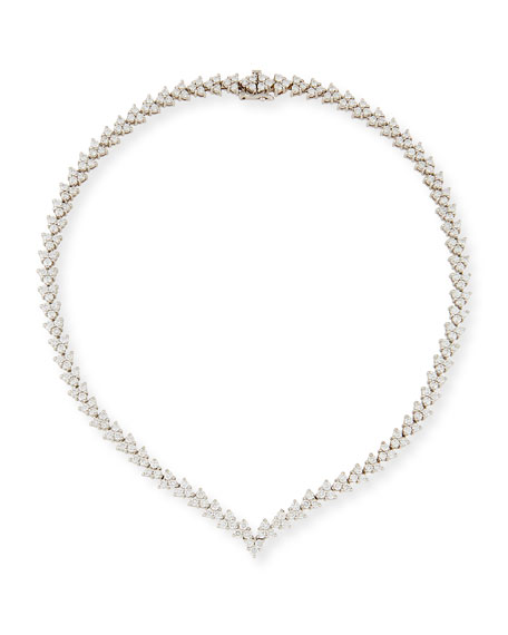Свадьба - V-Shape Diamond Riviera Necklace, 11.10 tdcw
