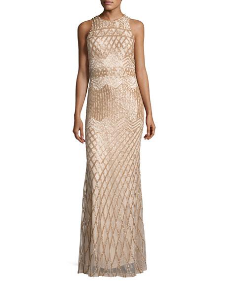 Свадьба - Olympia Sleeveless Beaded Gown, Champagne