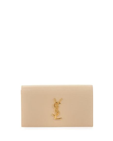 Свадьба - Monogram Grained Calfskin Clutch Bag
