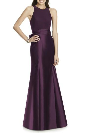Mariage - Alfred Sung Mikado Jersey Bodice Trumpet Gown