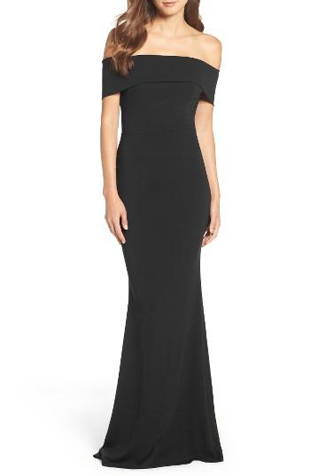 Mariage - Katie May Crepe Off the Shoulder Gown