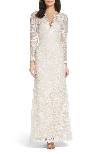 زفاف - Tadashi Shoji Long Sleeve A-Line Sheath Gown