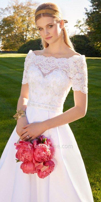 Off The Shoulder Lace Wedding Dress By Camille La Vie 2712323