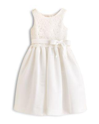 Wedding - US Angels Girls' Lace Overlay Dress - Sizes 7-14