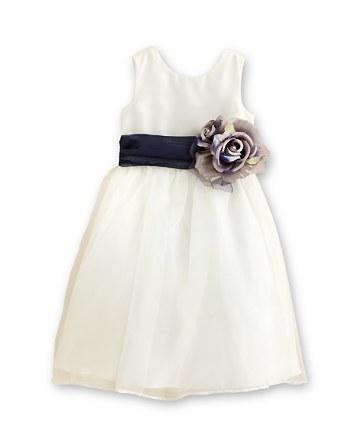 Wedding - US Angels Girls' Mix & Match Organza Dress, Sash & Rosebud - Baby