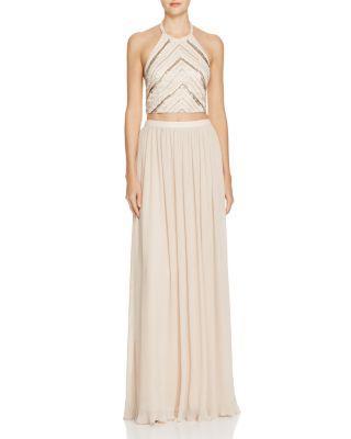 Mariage - Aidan Aidan Two-Piece Halter Gown