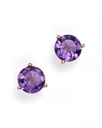 Hochzeit - Bloomingdale's Gemstone Stud Earrings in 14K Gold - 100% Exclusive