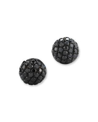 زفاف - Bloomingdale's Black Diamond Small Stud Earrings in 14K White Gold, .40 ct. t.w.