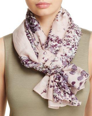 Mariage - Fraas Perforated Floral Scarf