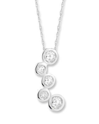 Mariage - Bloomingdale's Diamond Station Pendant Necklace in 14K White Gold, .40 ct. t.w.