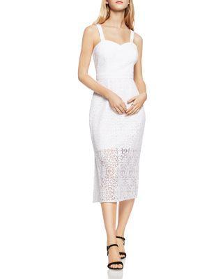 Boda - BCBGeneration Midi Illusion Lace Sheath Dress