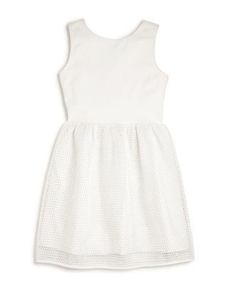 Wedding - AQUA Girls' Dress with Net Skirt - Big Kid- 100% Exclusive