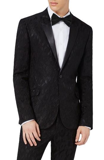 Hochzeit - Topman Ultra Skinny Fit Jacquard Leaf Tuxedo Jacket