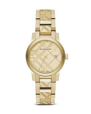 Mariage - Burberry Check Etched Bracelet Watch, 34mm