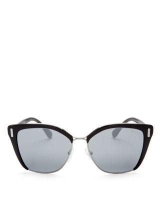 Свадьба - Prada Mirrored Cat Eye Sunglasses, 55mm