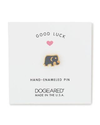 Mariage - Dogeared Good Luck Elephant Pin