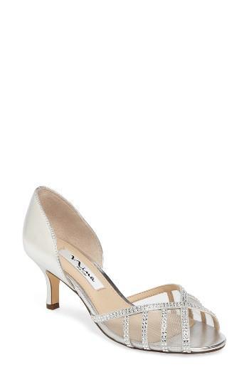 Wedding - Nina Corita Embellished Mesh Sandal