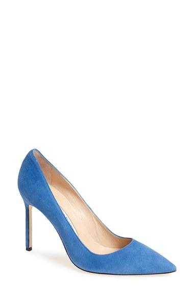 Wedding - Manolo Blahnik 'BB' Pointy Toe Pump (Women)