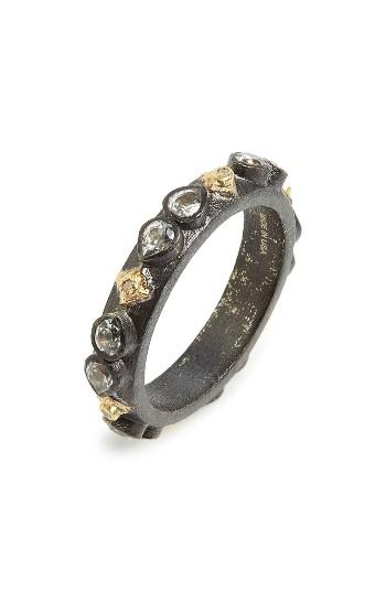 Hochzeit - Armenta Old World Sapphire Blackened Stack Ring