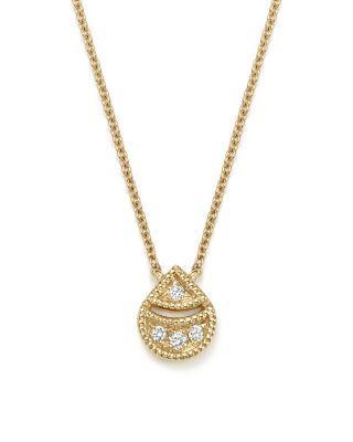 "Mariage - Dana Rebecca Designs 14K Yellow Gold Rochelle Jo Teardrop Diamond Pendant Necklace, 16"""