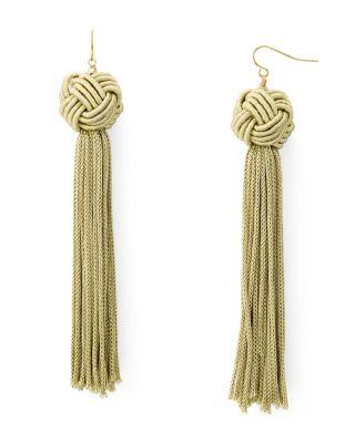 زفاف - Vanessa Mooney Astrid Tassel Drop Earrings