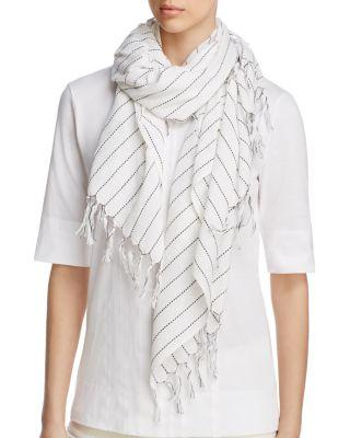 Mariage - Eileen Fisher  Contrast Stitching Organic Cotton Scarf