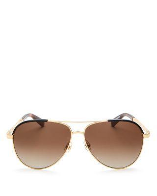 زفاف - kate spade new york Amarissa Aviator Sunglasses, 60mm