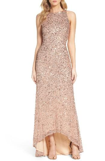 Wedding - Adrianna Papell Sequin High/Low Gown