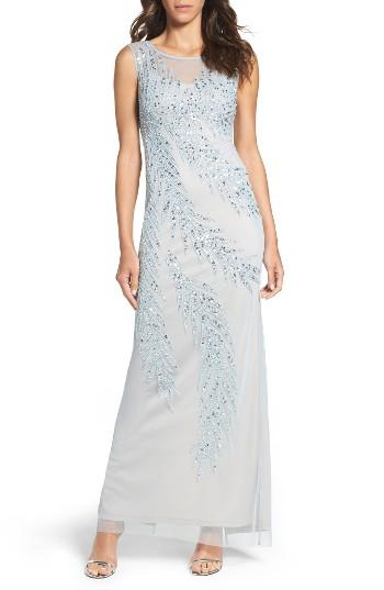 Wedding - Adrianna Papell Embellished Column Gown