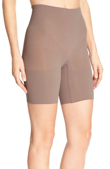 Spanx power short mid thigh shaper regular plus size for Plus size spanx for wedding dress