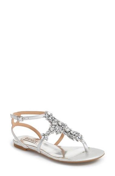 Свадьба - Badgley Mischka 'Cara' Crystal Embellished Flat Sandal (Women)