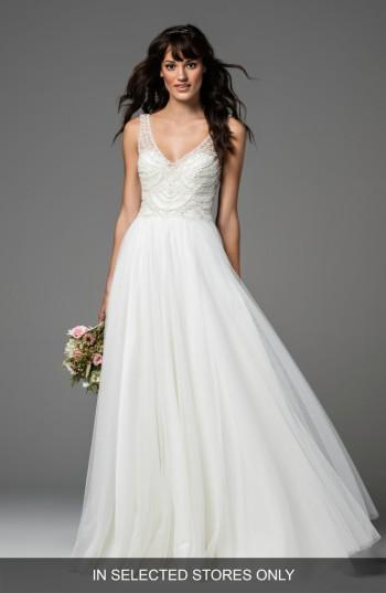 Wedding - Willowby Locket Beaded Tulle A-Line Gown (In Stores Only)