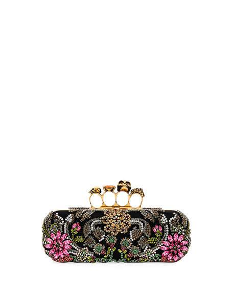 زفاف - Medieval Knuckle Box Clutch Bag, Black