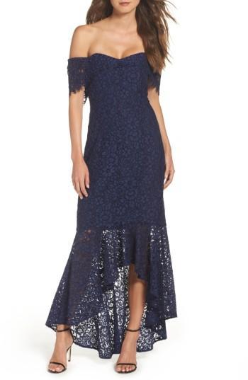 Wedding - Shoshanna Vanowen Lace Off the Shoulder Gown