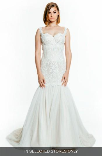 Mariage - Olia Zavozina Francesca Sleeveless Sweetheart Silk Gown (In Selected Stores Only)