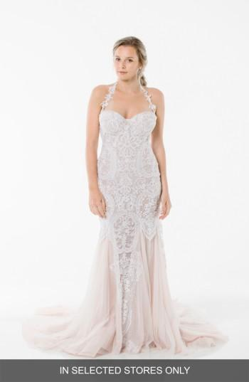 Mariage - Olia Zavozina Lena Lace Halter Gown (In Selected Stores Only)