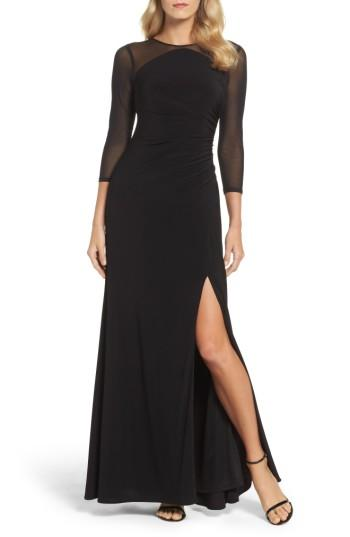 Wedding - Adrianna Papell Illusion Jersey Gown