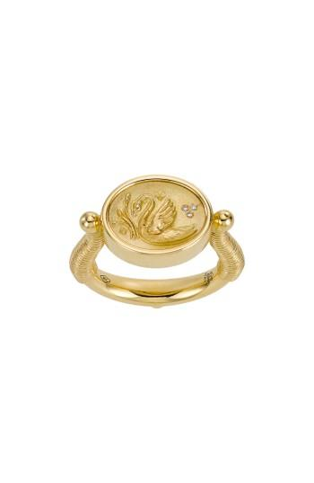 Wedding - Temple St. Clair Object Trouvé Swan Coin Diamond Ring