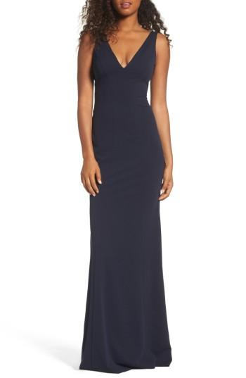 Wedding - Katie May V-Neck Crepe Gown