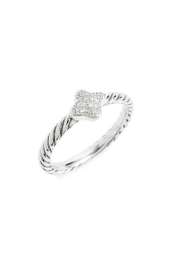 Mariage - David Yurman Quatrefoil Ring with Diamonds