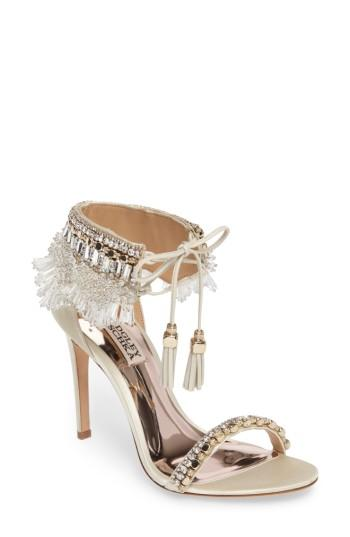 Mariage - Badgley Mischka Katrina Embellished Tie Sandal (Women)