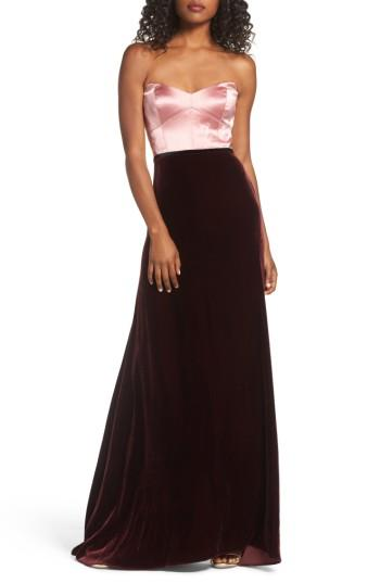 Wedding - Jill Jill Stuart Strapless Satin & Velvet Gown