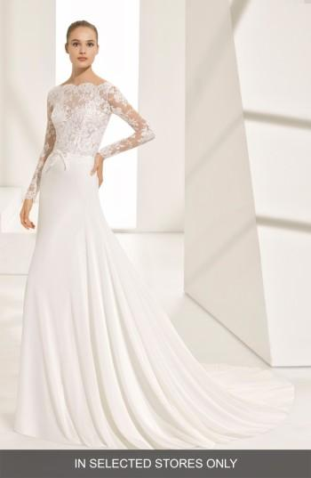 Mariage - Rosa Clara Couture Pascal Lace & Crepe A-Line Gown