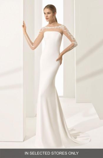 Mariage - Rosa Clara Parma Illusion Crepe Gown