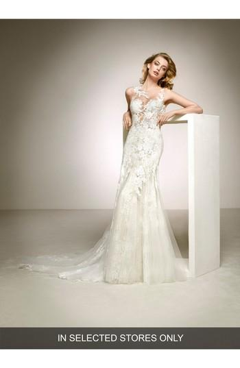 Mariage - Pronovias Dalia Illusion Lace & Tulle Column Gown