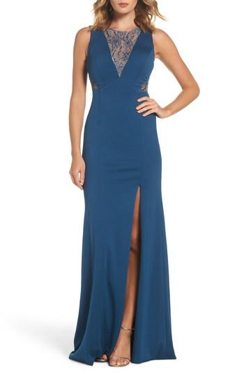 Hochzeit - Adrianna Papell Lace & Jersey Gown