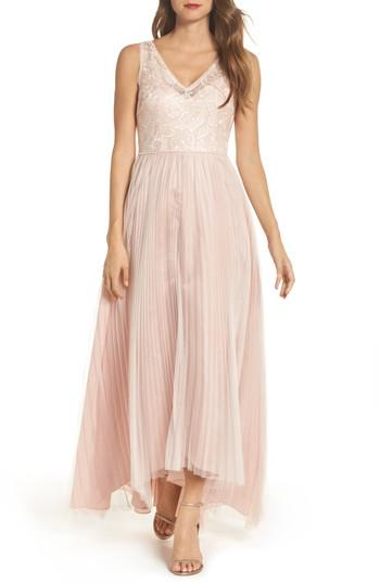 deaf54ce88ad1 Adrianna Papell Sequin Pleated Tulle High/Low Gown #2792478 - Weddbook