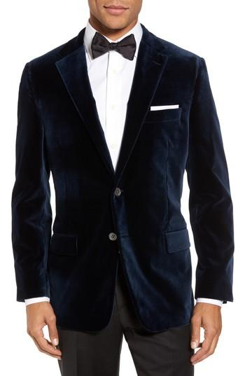 Mariage - Hickey Freeman Classic Fit Stretch Velvet Dinner Jacket